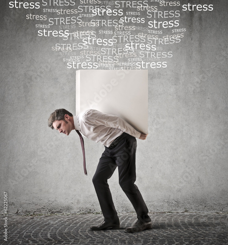 burdened businessman