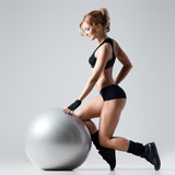 Fitness with gym ball - 62225445