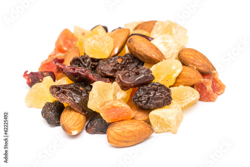 Dried Fruits Isolated On White Background