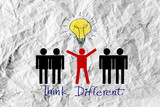 people icons think different idea design poster