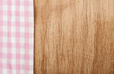 Tablecloth and wooden table