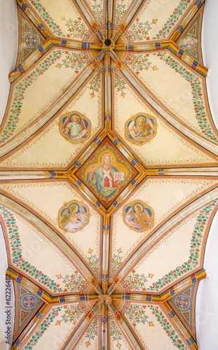 Bratislava - Ceiling of St. Ann gothic side chapel in cathedral