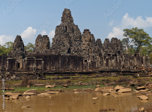 The Bayon (Prasat Bayon) temple at Angkor in Cambodia