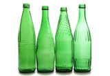 Green bottles wineglasses