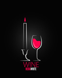 wine glass candle design background