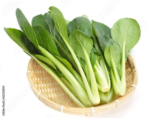 fresh ripe of chinese cabbage on white background
