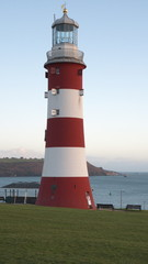 Smeaton's Tower Lighthouse, Plymouth Hoe, Plymouth, Devon, UK
