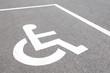 close - up Handicap parking spots