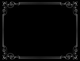 Vector vintage frame on a black background