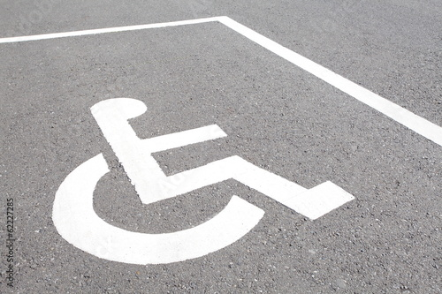close - up Handicap parking spots