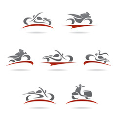 Motorcycles set. Vector