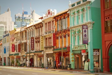 colorful houses of Singapore