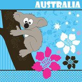 Australia, koala bear vector illustration