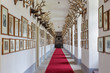 Corridor with the lot of trophy in palace Saint Anton - Slovakia