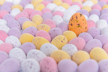 Easter egg crowd scene