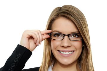 Geschäftsfrau mit Brille 3