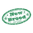 New breed grunge rubber stamp