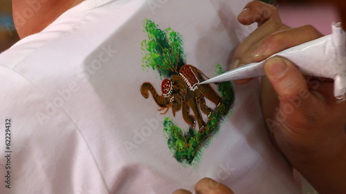 Painting on a shirt