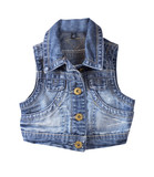 Jeans vest.Isolated.