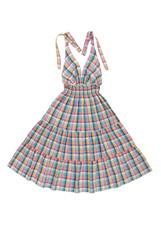 checkered sun-dress