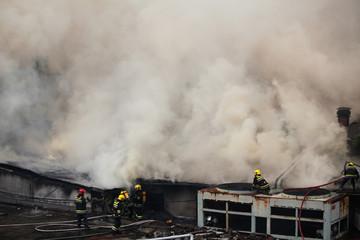 Fire fighters on Duty