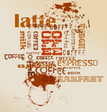 retro style coffee illustration, vector eps 10