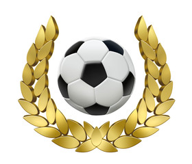 Siegeskranz mit Fußball