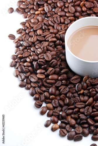 A Cup of Coffee & Coffee Bean