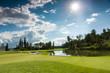 Leinwandbild Motiv Golf Course in the Sun
