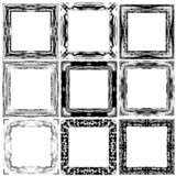 Set grunge abstract frames. Design elements.