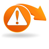 danger sur bouton orange