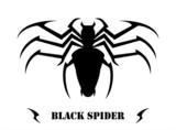 Stylized Black Spider