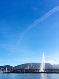 Jet d'eau and the sky above