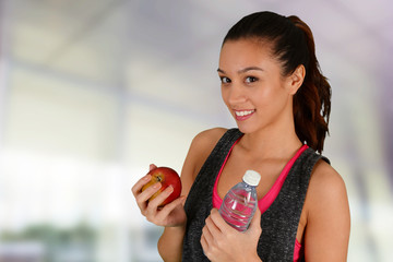 Woman Eating Healthy After Workout