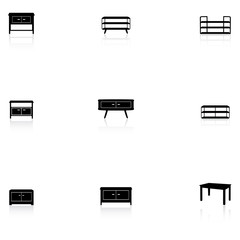 Furniture icons - table