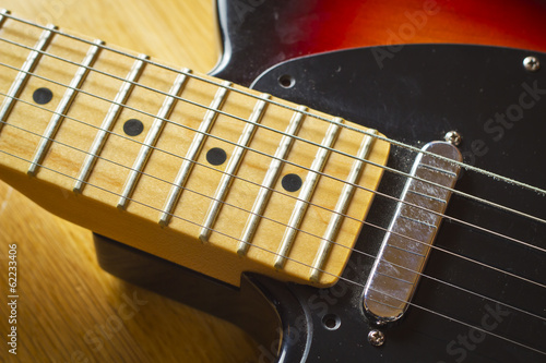 Electric guitar close up