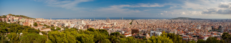 Graet panoramic view of Barcelona
