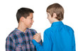 Handshake of two boys