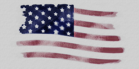 Grunge USA Flag, old paper texture