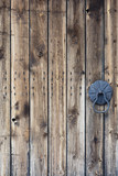 Old weathered wooden door details