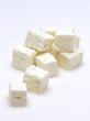 feta cubes on white