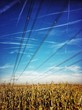 canvas print picture - Linien am Himmel