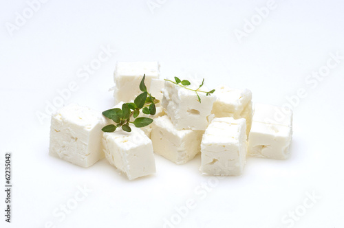 Leinwanddruck Bild feta cubes