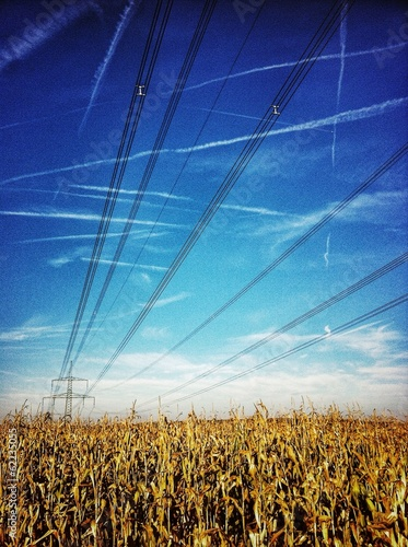 canvas print picture Linien am Himmel