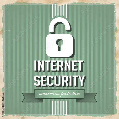 Internet Security Concept in Flat Design.