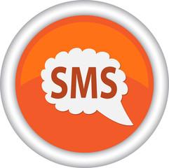 Круглый векторный знак с надписью SMS