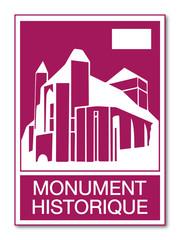 Panneau monument historique.