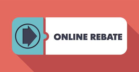 Online Rebate. Pastels Vintage Design Concept.