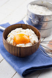 Cottage cheese and egg