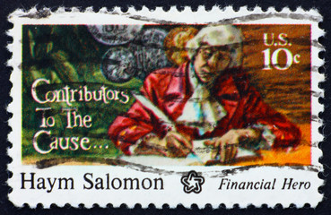 Postage stamp USA 1975 Haym Salomon